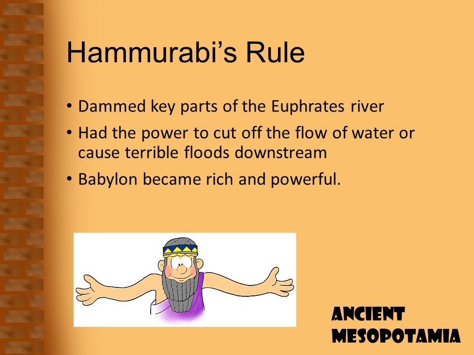 "an analysis of the code of hammurabi a set of laws of ancient babylonia The hammurabi code of laws, a collection of 282 rules, established standards for commercial interactions and set fines and punishments to meet the and his name reflects a mix of cultures: hammu, which means ""family"" in amorite, combined with rapi, meaning ""great"" in akkadian, the everyday language of babylon."