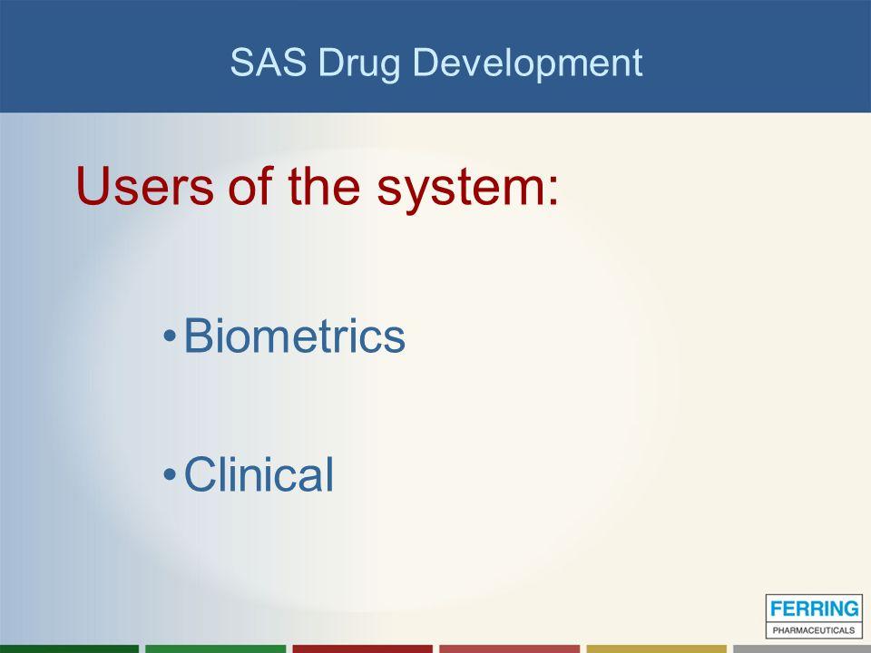 Presentation sas drug development project background