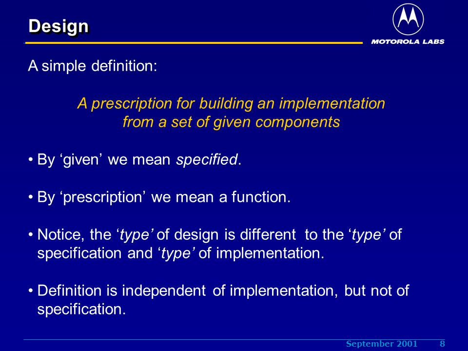 The meaning of a specification s meaning ppt download for Architecture definition simple