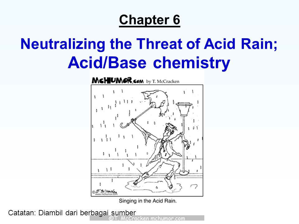 the threat of acid rain Acid rain acid rain is a general name for many phenomena including acid fog, acid sleet, and acid snow the father of acid rain research is an englishman named charles angus smith who suggested in, 1852, that sulfuric acid in manchester, english, was causing metal to rust and dyed goods to fade.