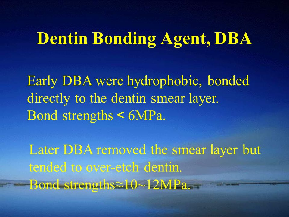 Dentin Bonding Agent, DBA
