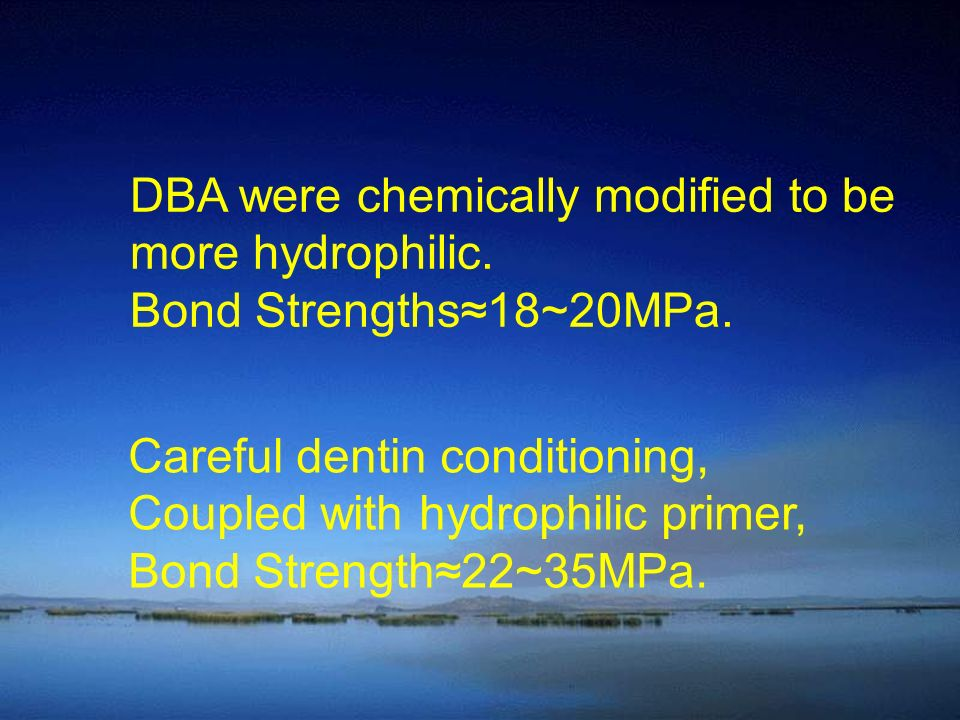 DBA were chemically modified to be