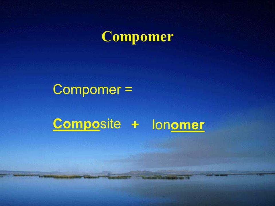 Compomer Compomer = Composite + Ionomer