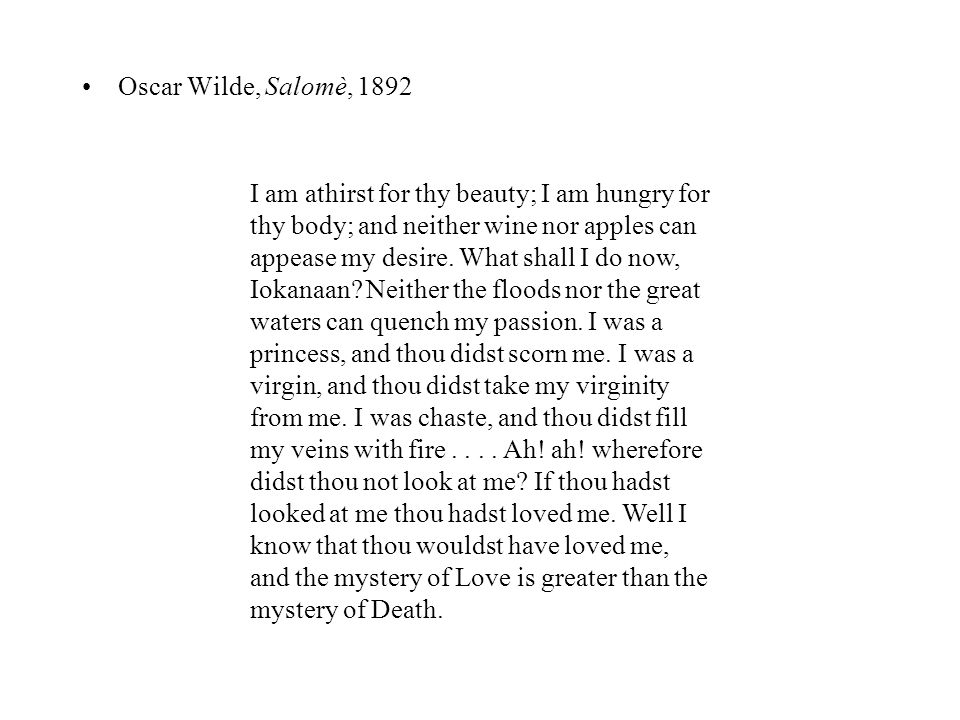 Oscar Wilde, Salomè, 1892