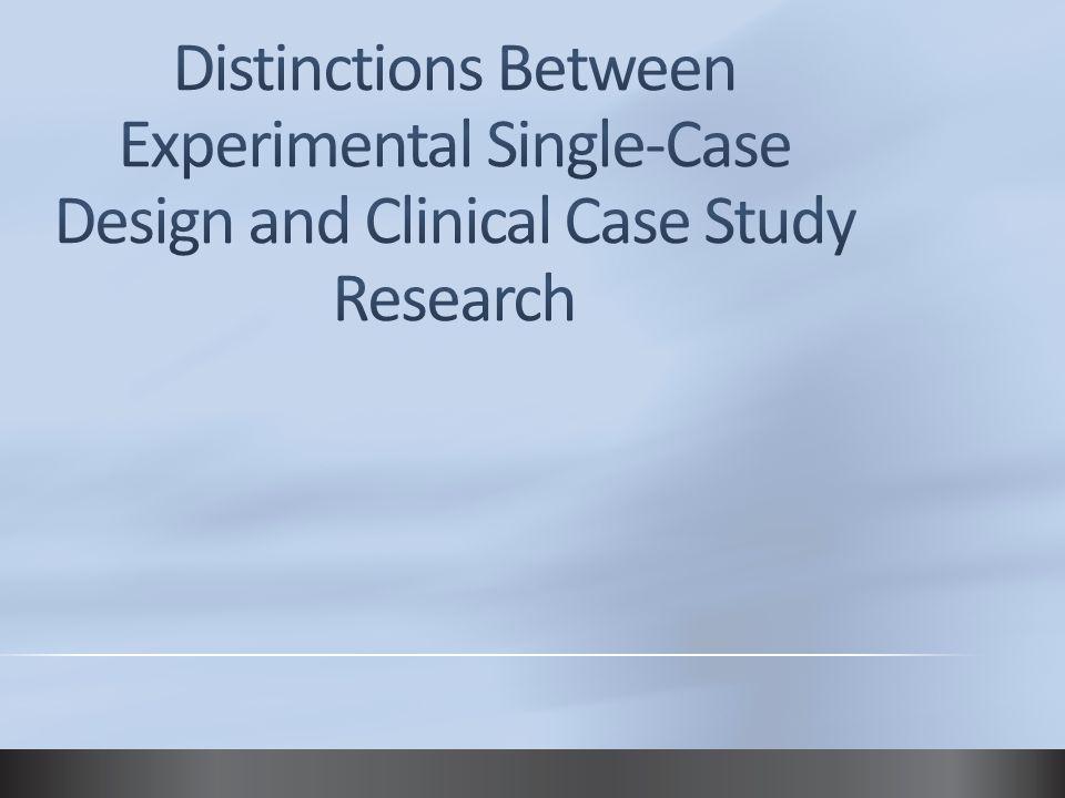 single case study design pdf