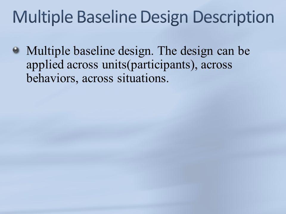 Multiple Baseline Designs - University of Idaho