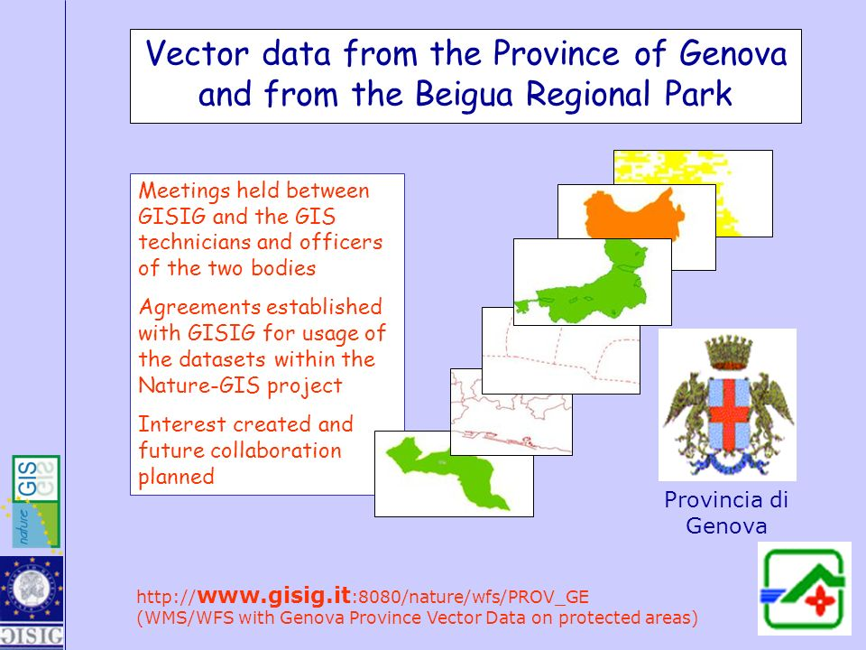 Vector data from the Province of Genova and from the Beigua Regional Park