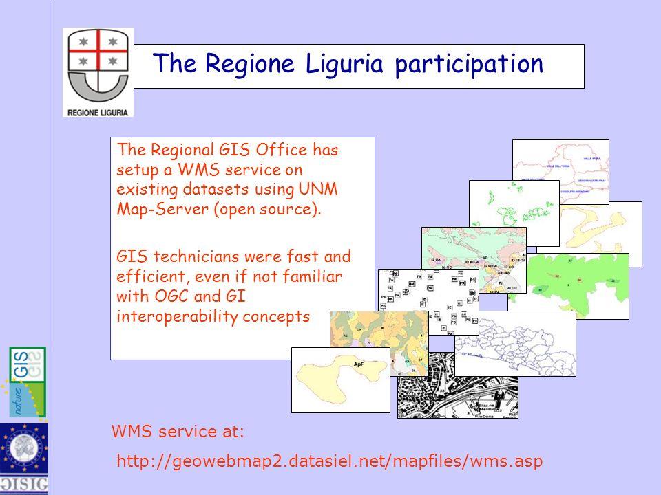 The Regione Liguria participation