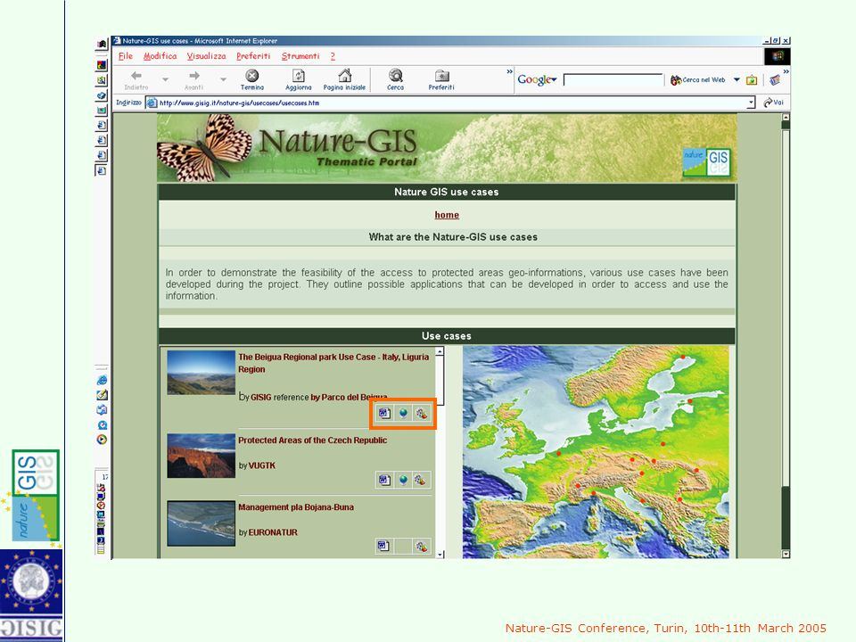 Nature-GIS Conference, Turin, 10th-11th March 2005