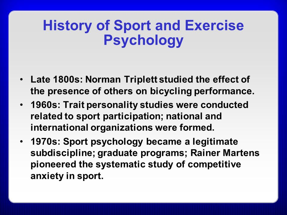 the significance of sport psychology for the performance and personal growth of athletes Sport psychologists help professional and amateur athletes overcome problems, enhance their performance and achieve their goals how sport psychology helps athletes.