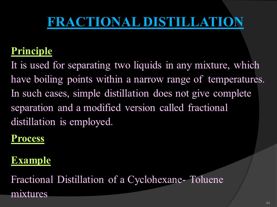 principles of distillation essay Distillation: this page may be out of date  what is the principle used in the separation of a mixture  philosophical essay on the works of louise-victorine .