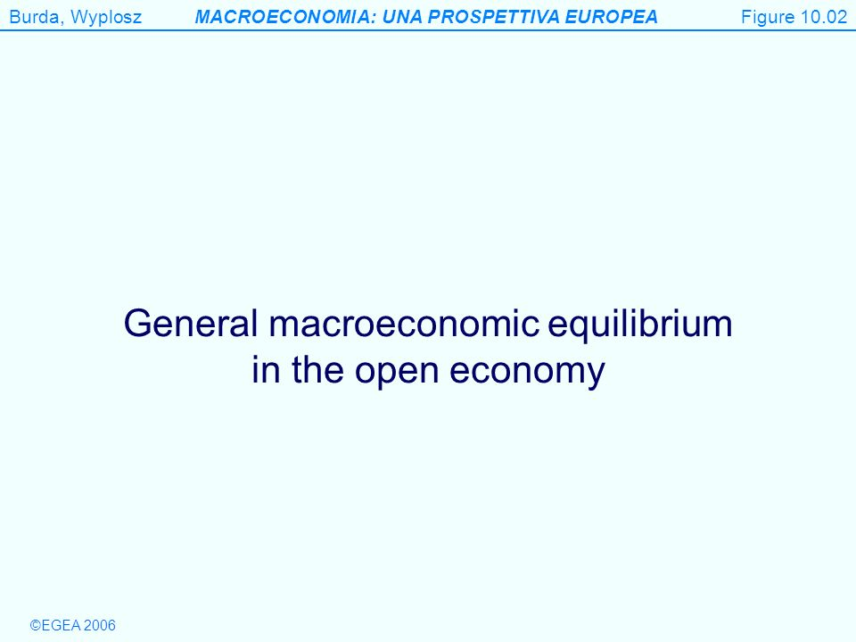 General macroeconomic equilibrium in the open economy