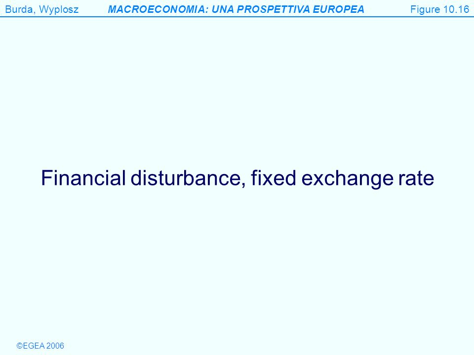 Financial disturbance, fixed exchange rate