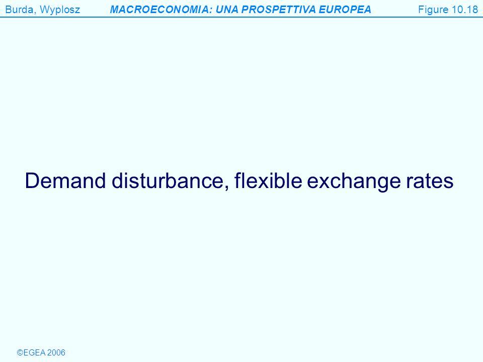 Demand disturbance, flexible exchange rates