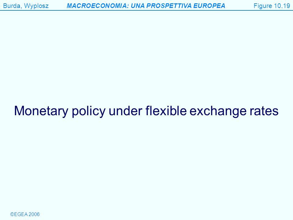 Monetary policy under flexible exchange rates