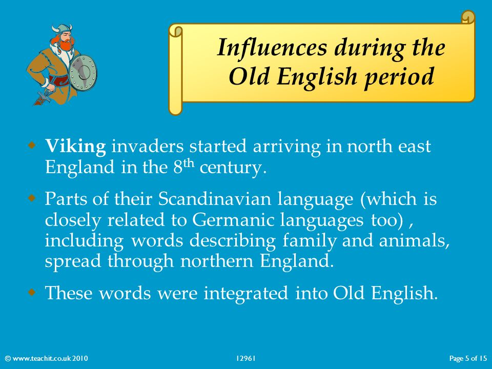 Old english period essay