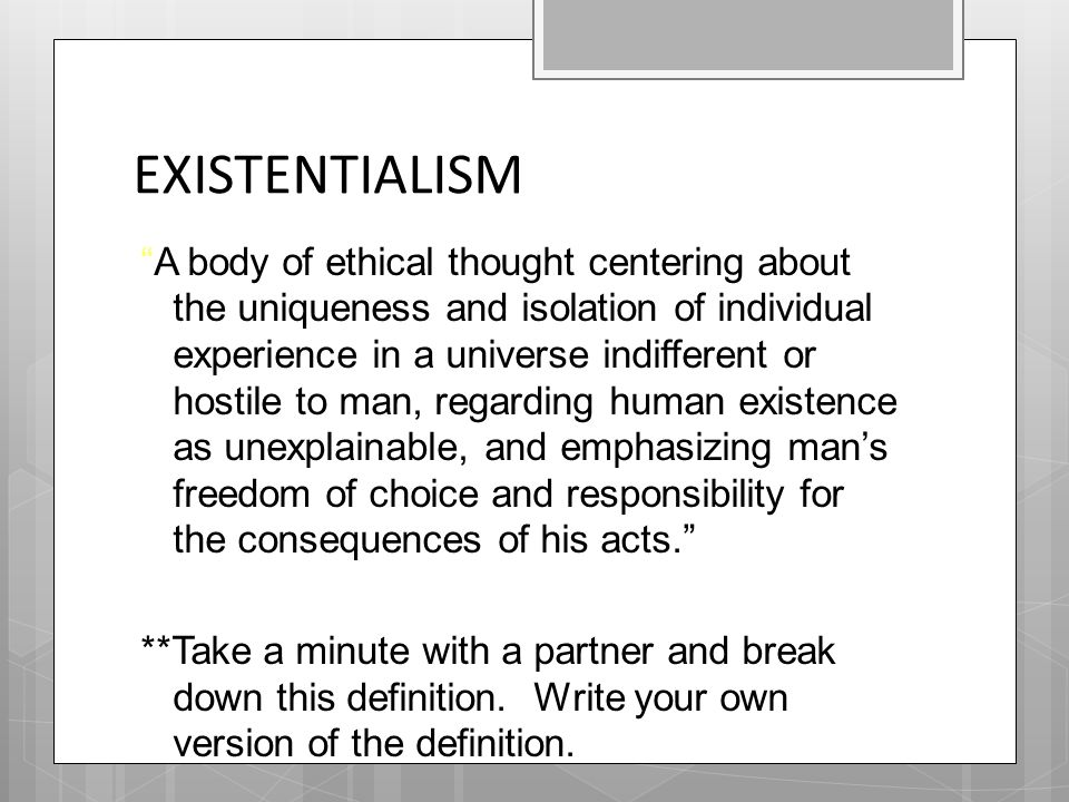existentialism and the belief in god What is existentialism god may give rest and a sense of peace, but i know plenty of people who do not believe in god yet hold people like jesus.