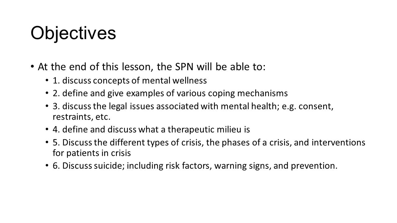 Concepts Of Mental Health Ppt Video Online Download