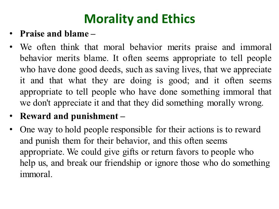 return to paradise ethics and morality In presenting this reflection on the delicate subject of the relationship between the bible and morality the  natural ethics and  and return to their dust when.