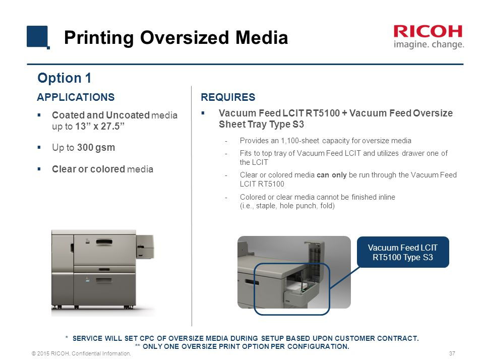 ONLY ONE OVERSIZE PRINT OPTION PER CONFIGURATION