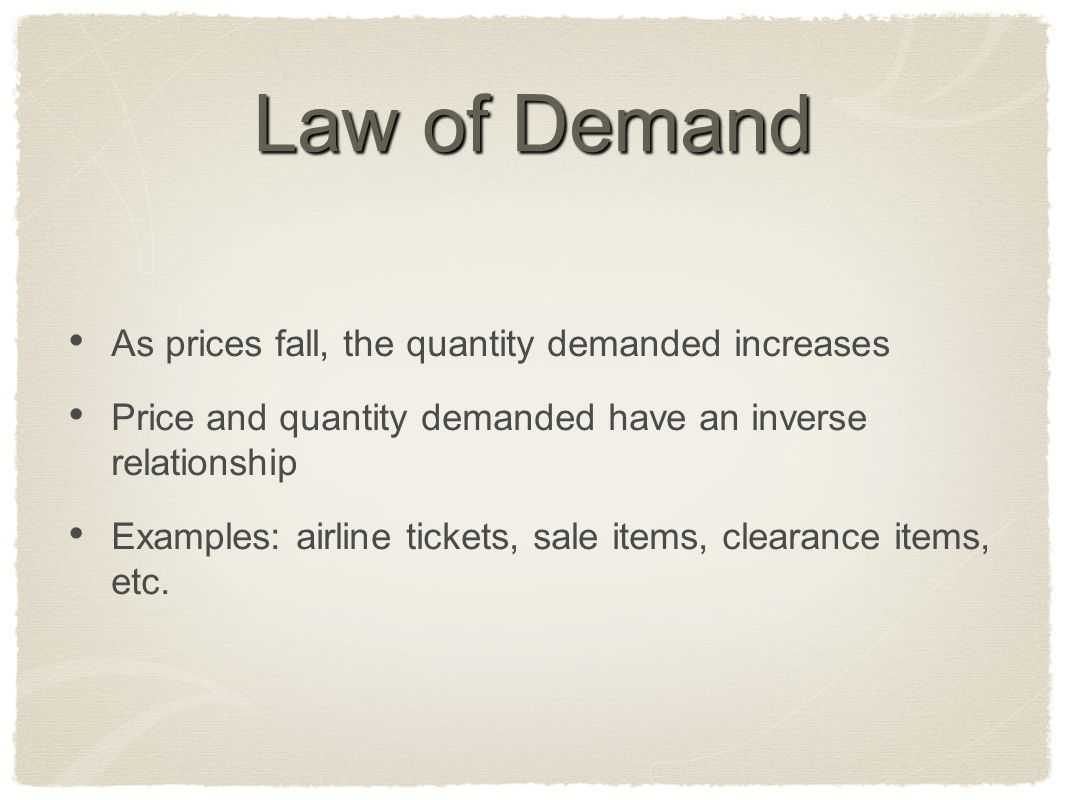 price and quantity demanded relationship poems