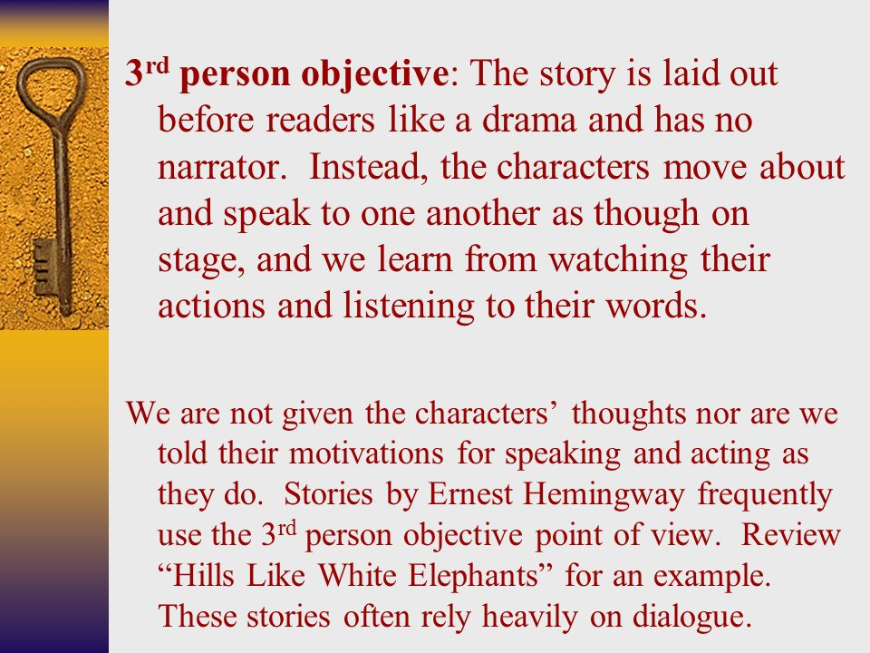 the importance of the decision to the characters in hills like white elephants by ernest hemingway Everything you ever wanted to know about jig in hills like white elephants,  written by masters of this stuff just for you  white elephants by ernest  hemingway  jig isn't, shall we say, the most fleshed-out characters in literature  the lack of.