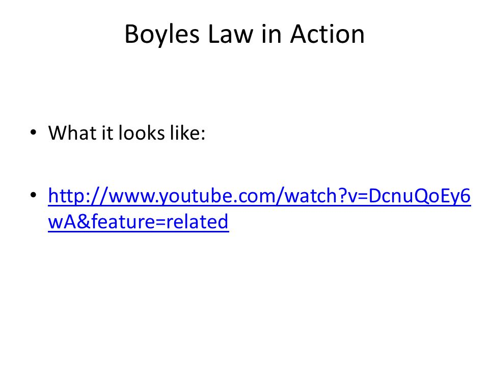 Boyle's Law and Charles' Law - ppt download