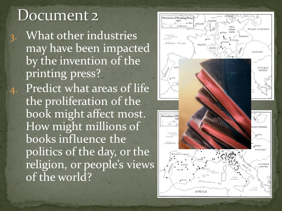 consequences of the printing press In this presentation we will explore the connection between the invention of the printing press and the renaissance.