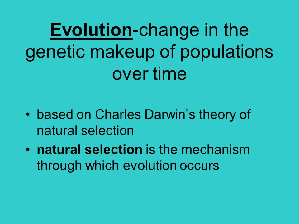 darwins theory of natural selection with the ideals of genetics The concept of natural selection originally developed in the absence of a valid theory of heredity at the time of darwin's writing, science had yet to develop modern theories of genetics the union of traditional darwinian evolution with subsequent discoveries in classical genetics formed the modern synthesis of the mid-20th century.