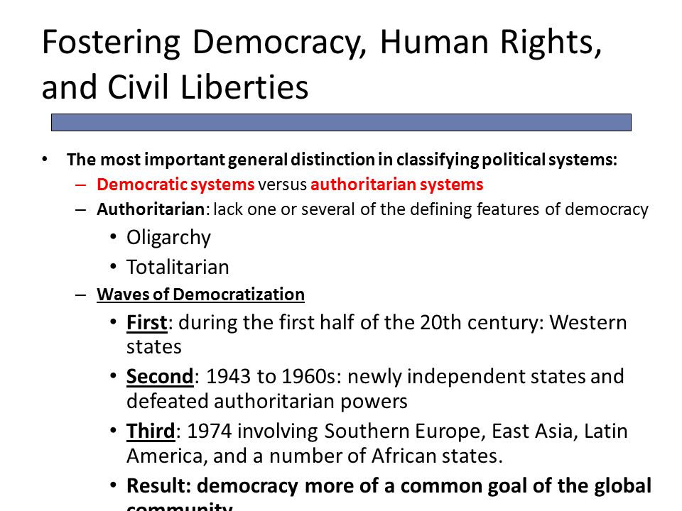 democracy and civil rights The minorities in a democracy should be allowed to protect their rights and  these are some of the important civil rights of a citizen in a modern state.
