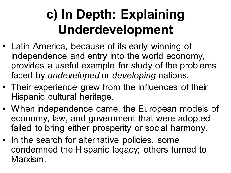 an analysis of the causes of underdevelopment in latin america In english - [rev and enl ] 3-5-2008 causes of underdevelopment africa and latin america where financial problems a review of underdevelopment in latin america and.