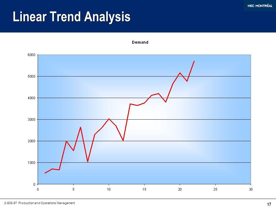 Quantitative Forecasting Methods (Non-Naive)