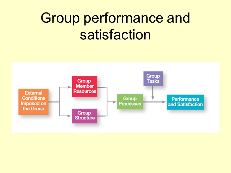 Group performance and satisfaction