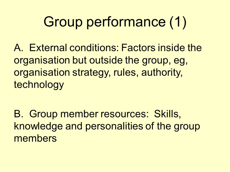 Group performance (1)
