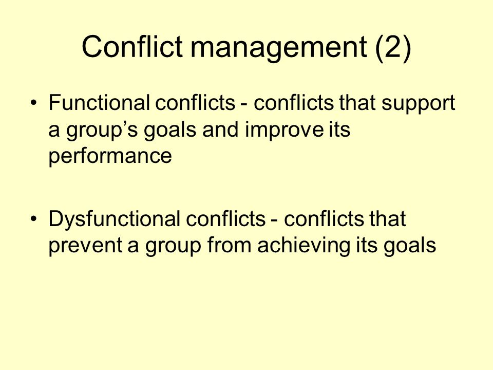 Conflict management (2)