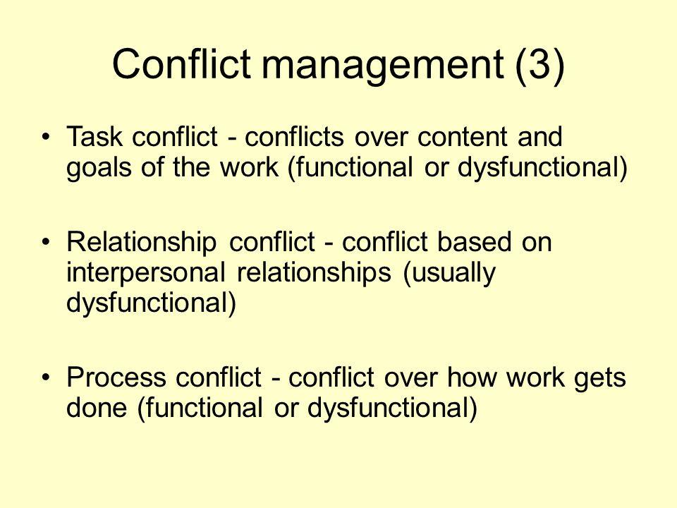Conflict management (3)