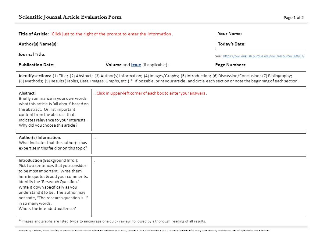 journal article analysis