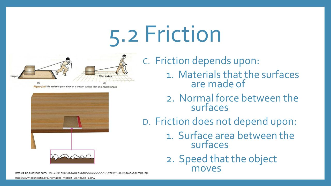 relationship between force and coefficient of friction