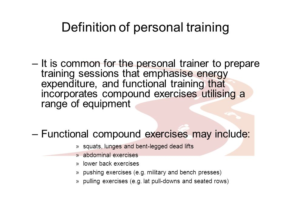 Definition Of Personal Training