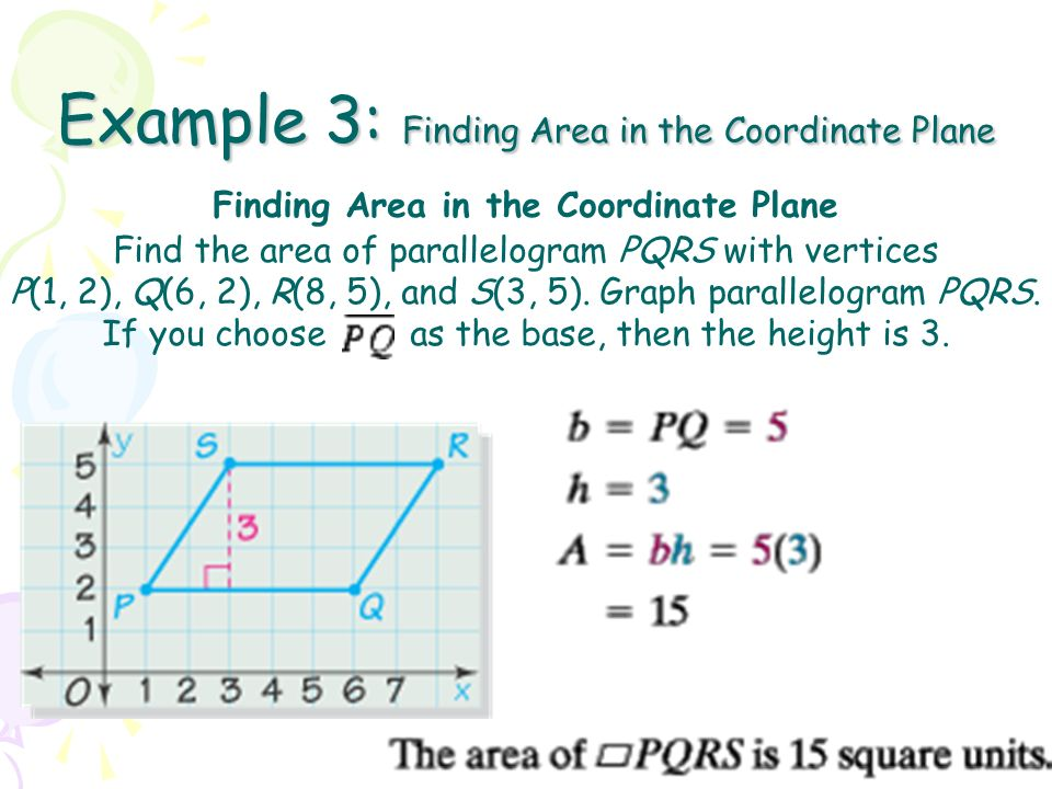 Objective to find the area of a parallelogram and a triangle 7 example 3 ccuart Choice Image