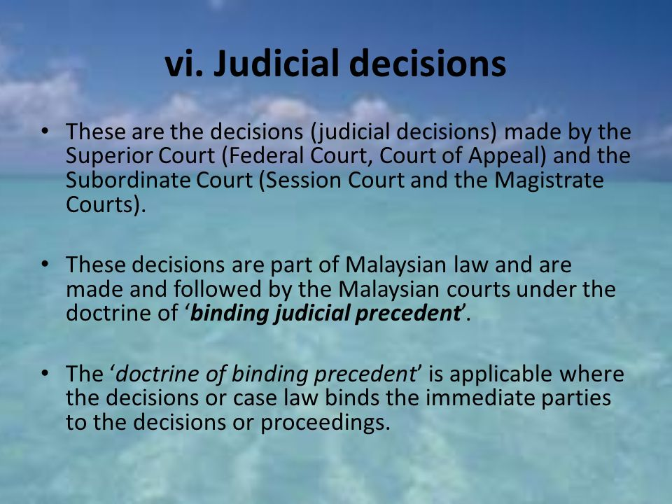 doctrine of judicial binding precedent Judicial precedent is a legal case law establishing a principle or rule that a court or mandatory or binding authority and, a judicial precedent that is not mandatory but which is useful or relevant is known as persuasive precedent or an advisory precedent according to the doctrine of.