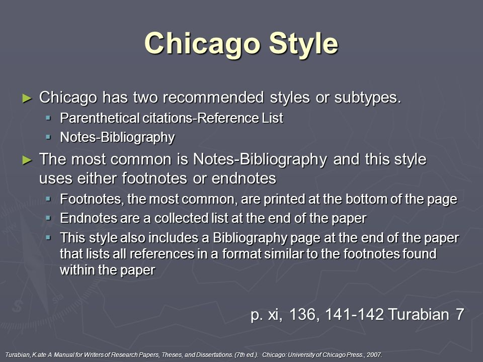 Chicago turabian essay example