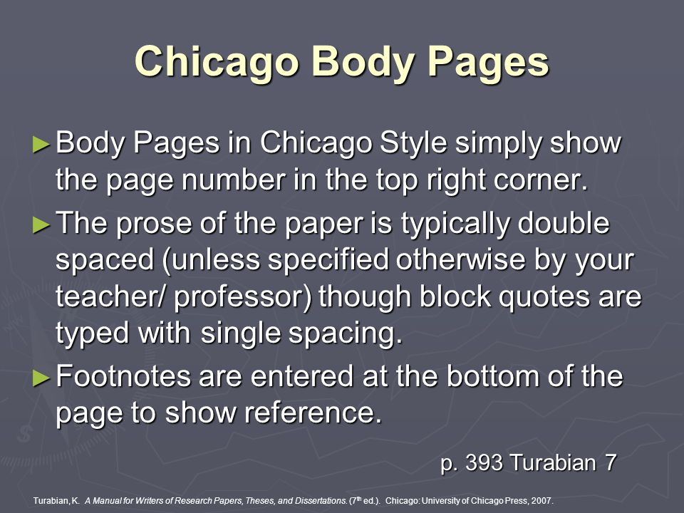 chicago style block quote