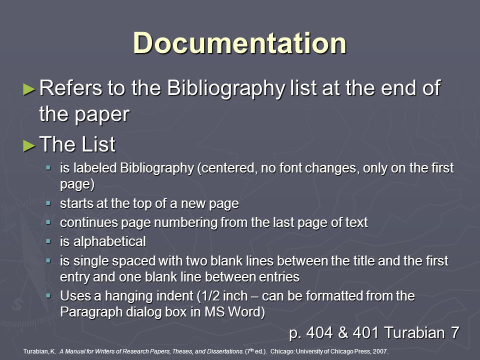 bibliography at end of essay Bibliography in any piece of written work in which you have cited references to published works, it is necessary to provide a bibliography, or list of references, at the end of your work.