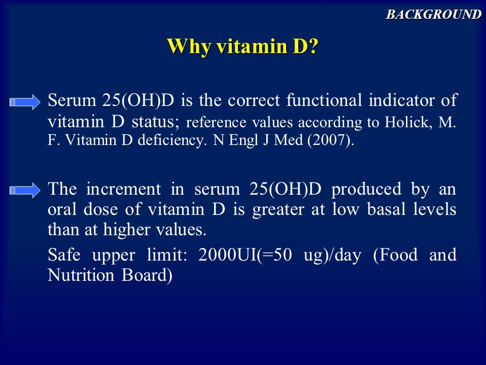 background Why vitamin D