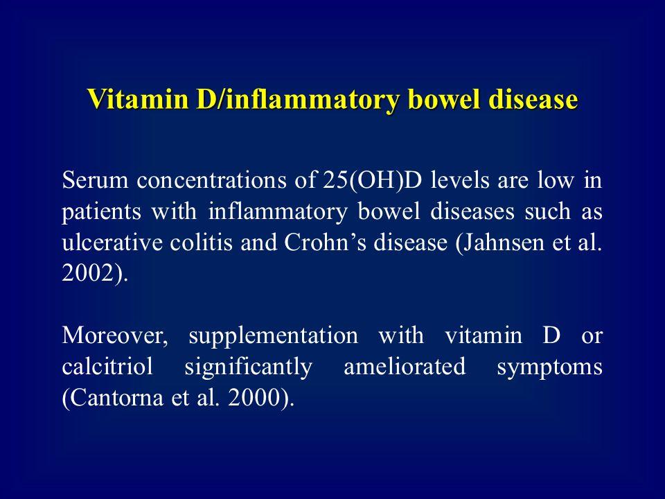 Vitamin D/inflammatory bowel disease