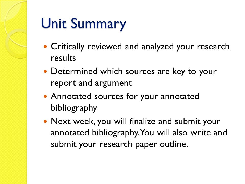 steps in writing annotated bibliography