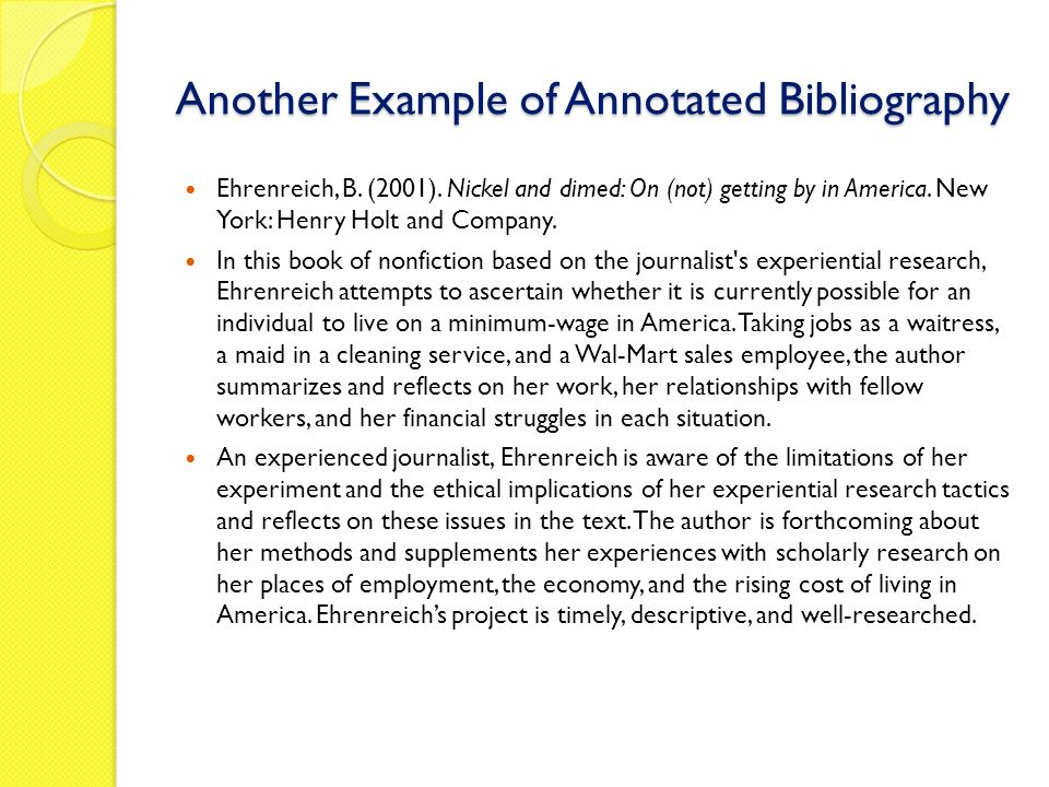 unit capstone research option preparing an annotated  another example of annotated bibliography