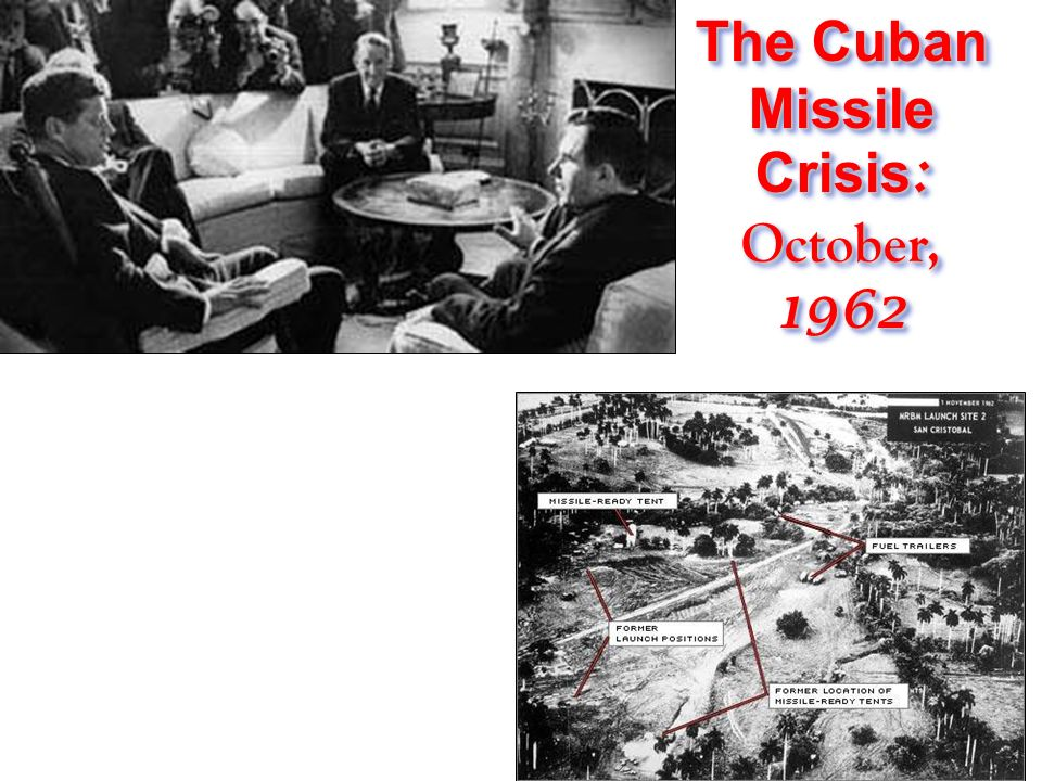 an overview of the cuban missile crisis in 1962 The authors discuss the purposeful escalation of conflict costs to produce a stalemate in the cuban missile crisis in 1962 the ussr began to ship nuclear missiles to cuba, with the intention of targeting them at major us cities.