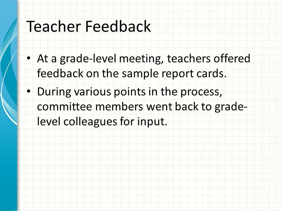 Elementary School StandardsBased Report Cards ppt video online – Sample Report Cards